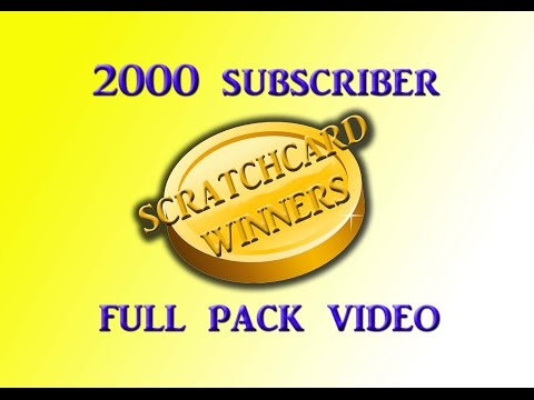 FULL PACK Scratchcard Winners 2000 Subscriber Special