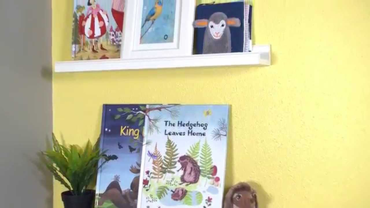 ribba picture ledges for kids u0027 books ikea home tour youtube