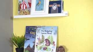 Ribba Picture Ledges For Kids' Books - Ikea Home Tour