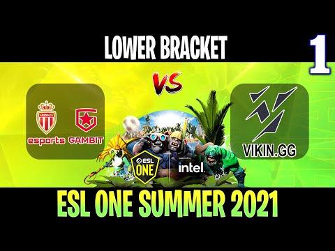 VOD: AS Monaco Gambit vs ViKin.gg-ESL One Summer 2021-G1