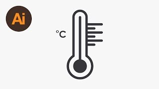 How to Draw a Thermometer Icon in Illustrator