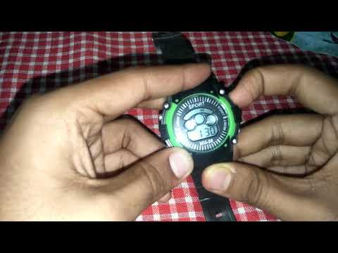 Sport Watch Inboxing.  How To Set Time And Day In This Digital Sport Watch.⌚⌚⌚⌚😀😀😍😍😍😇😇😇