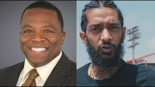 News Reporter tells Nipsey Hussle to 'PULL UP FOR THE FADE' after Nipsey says he would beat him up.