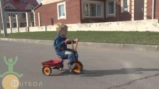 Дети катаются на велосипеде.  Велосипед Детский Велосипед Winther 44714 Велосипеды(Пишут