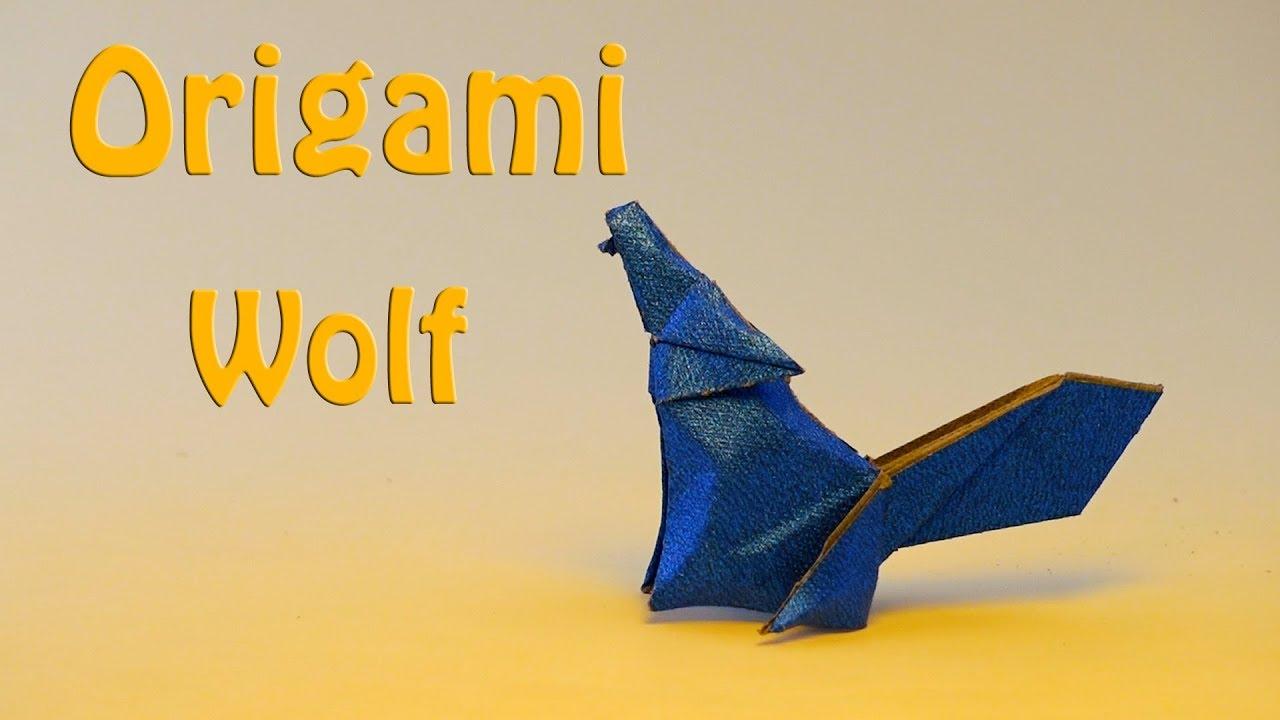 origami wolf 5 | Origami animals, Origami advanced, Origami dragon | 720x1280