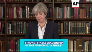 May comments on election and Brexit