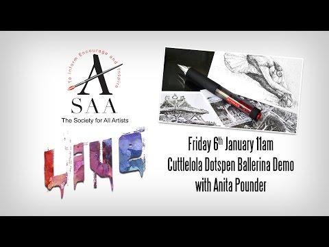 SAA LIVE - Cuttlelola Dotspen Ballerina with Anita Pounder