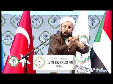 Abdülmetin Balkanlıoğlu Hocaefendi 3. Uluslararası Ümmetin Renkleri Buluşması Trabzon Programı'nda