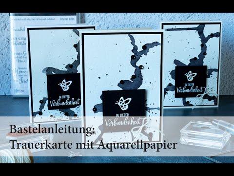 Trauerkarte mit Aquarellpapier