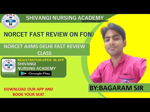 NORCET FAST REVIEW ON FON BY BAGA RAM SIR