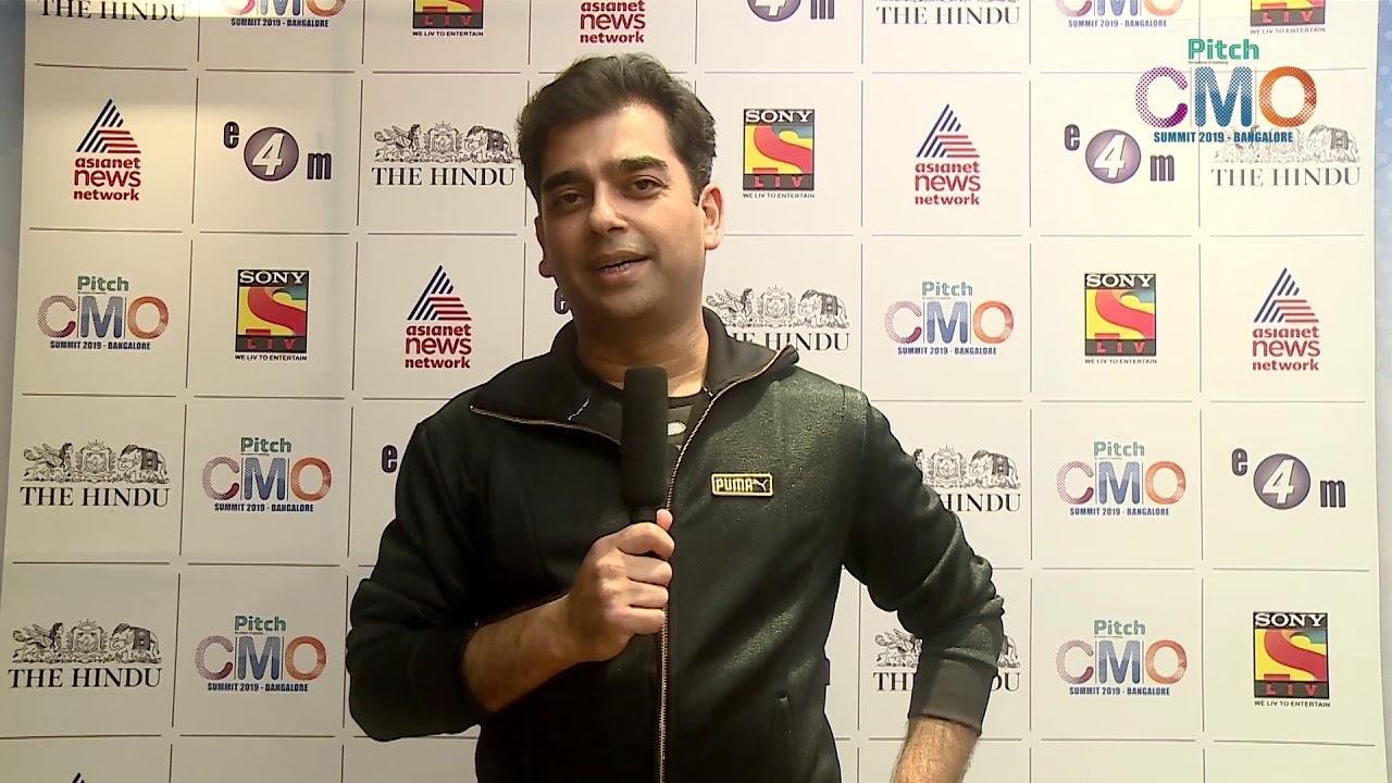 Abhishek Ganguly at Pitch CMO Summit, Bangalore