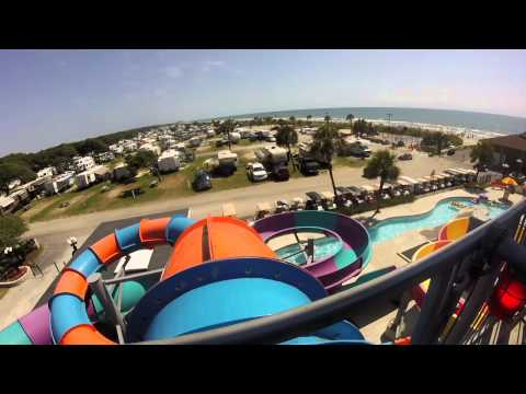 Gopro Lakewood Camping Resort Aqua Tube Water Slide Myrtle