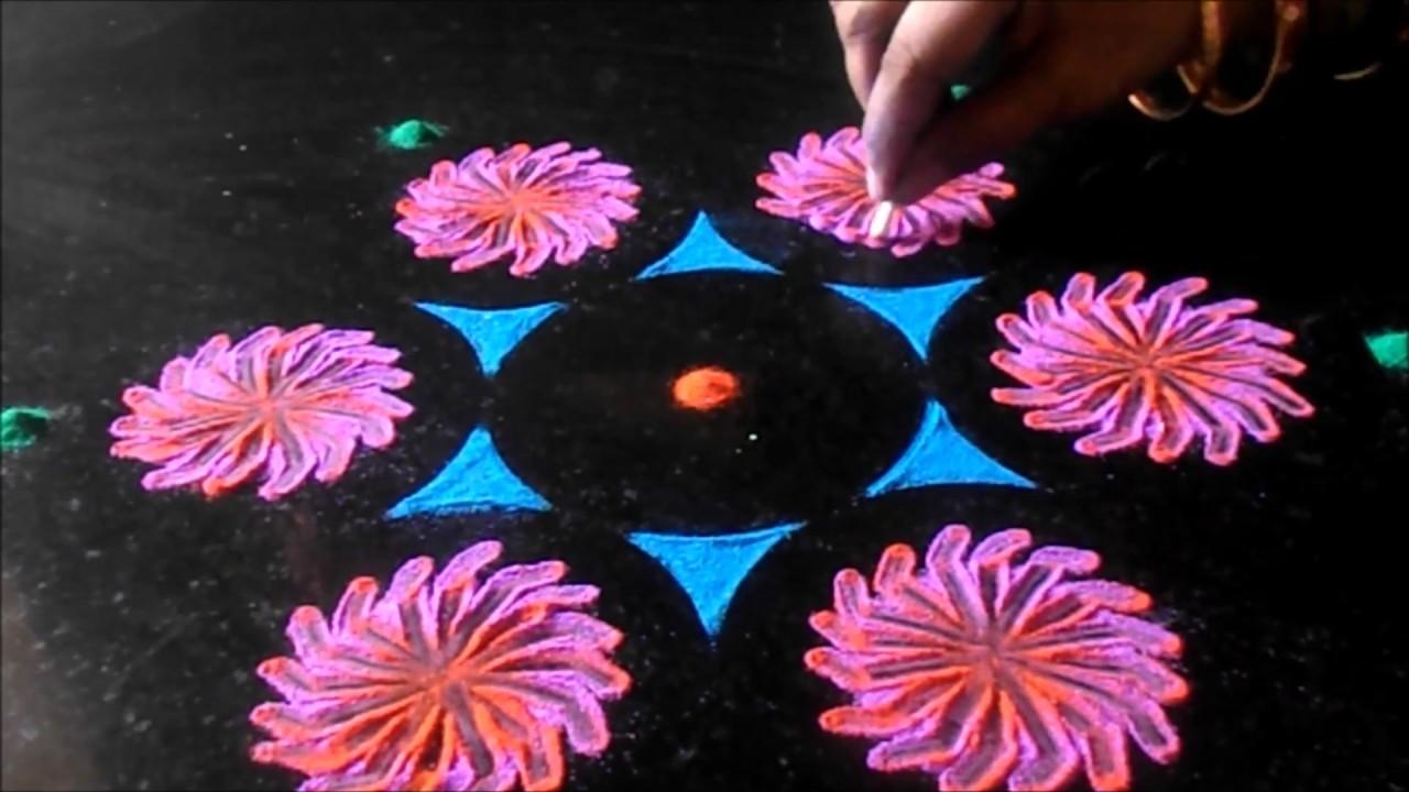 Diwali Rangoli Designs Easy Making With Waste