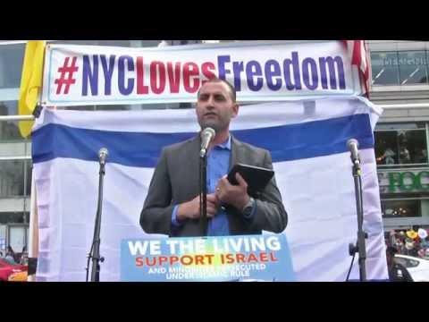 Yazidi Leader Haider Elias Worldwide Plea at AFDI Rally for Israel, Minorities Under Islam