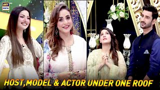 Host,Model & Actor Under One Roof In Todays Eid Special Good Morning Pakistan