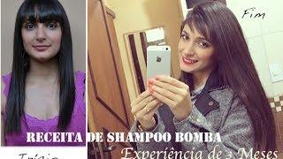 Beauty Tip: Receita Shampoo Bomba e Experiência e Resultado de 3 meses