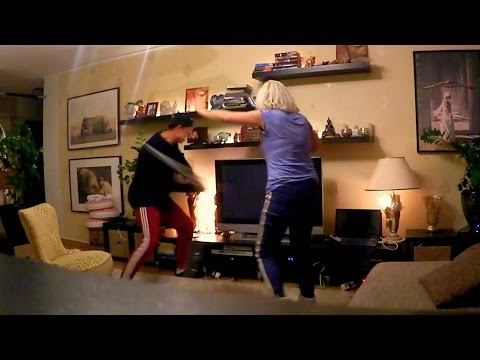 DESTROYING MOMS TV WITH A BASEBALL BAT (MOM STARTS CRYING)