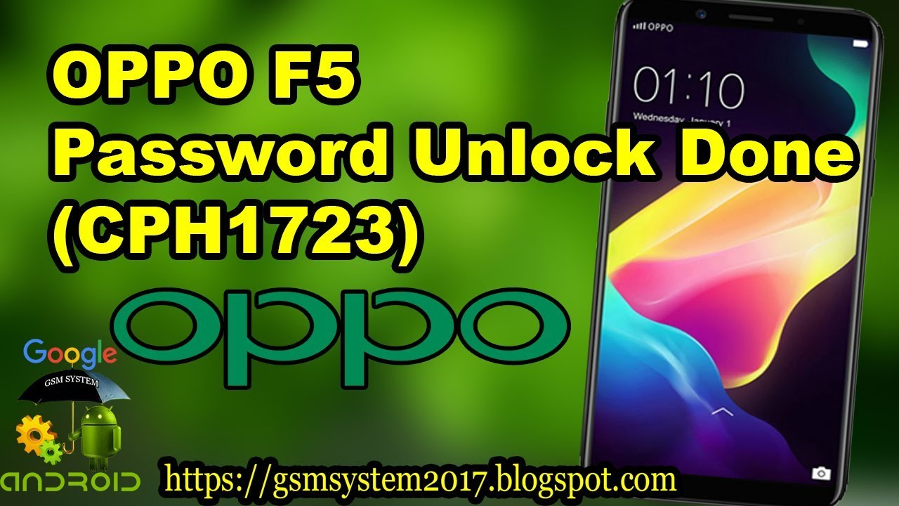 OPPO F5 password unlock done CPH1723