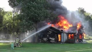 American Legion House Fire - Control Burn by the Bella Vista Arkansas Fire Department