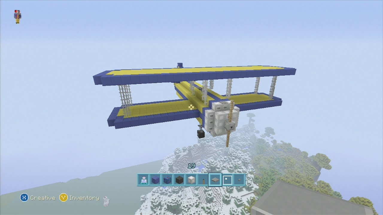 How To Build A Small Airplane In Minecraft