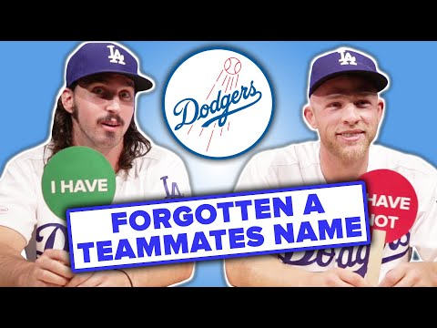 Dodger Players Play Never Have I Ever