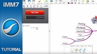 Inserting Audio Notes - iMindMap 7