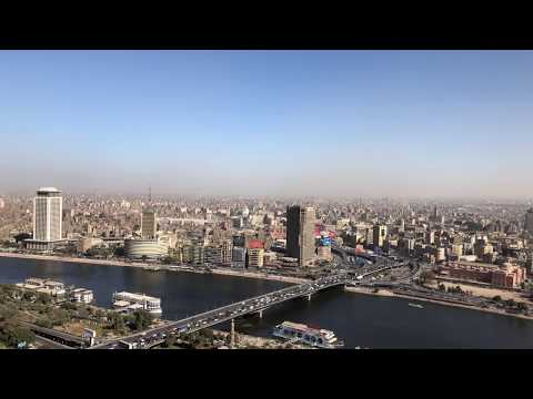 4K Panorama Cairo from Cairo Tower 01 - Free Stock Video footage - By Jamal El Serwy