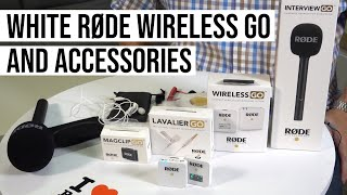 RODE WIRELESS GO WHITE EDITION AND ACCESSORIES - HANDS ON