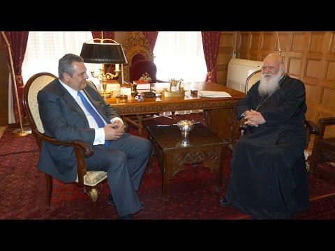 Ο ΥΕΘΑ Πάνος Καμμένος στον Αρχιεπίσκοπο