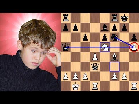 13yearold Magnus Carlsen's picturesque mate