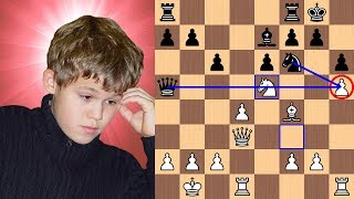 13-year-old Magnus Carlsen's picturesque mate