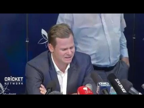 Smith breaks down during emotional press conference