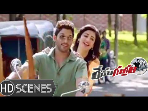 Allu Arjun introduces Shruti Hassan to MS Narayana | Race Gurram Movie Scenes