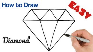 How to Draw a Diamond Easy Step by Step