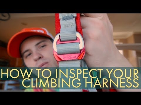 HOW TO INSPECT YOUR CLIMBING HARNESS // CLIMBING GEAR INSPECTION 001