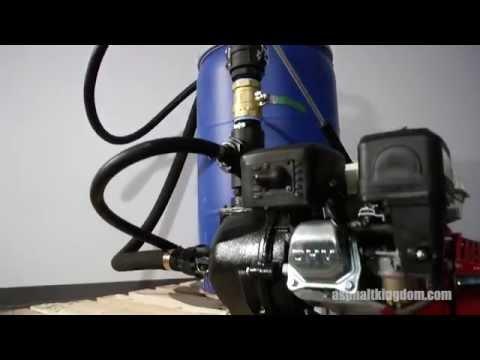Startup Drum Sprayer For Sealcoating Asphalt