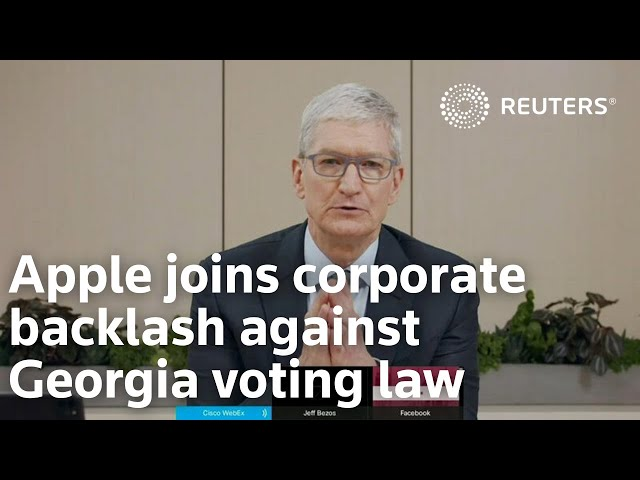 Apple joins corporate backlash against Georgia voting law