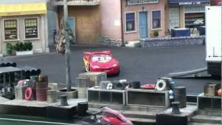 Lightning McQueen debuts in Lights Motors Action Extreme Stunt Show at Disney's Hollywood Studios