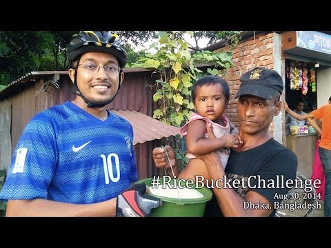 Rice Bucket Challenge, Dhaka, Bangladesh
