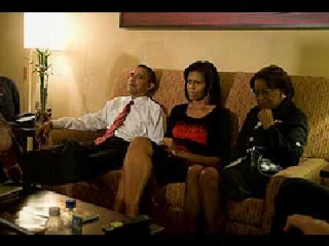 barack obama and family on election night youtube