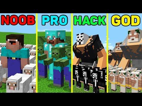 Minecraft Noob Vs Pro Vs Hacker Vs God: HUGE BATTLE Army In Minecraft / Animation
