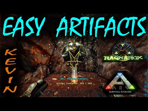 ARK - Ragnarok - Simple Artifacts guide   Everyone can get them  With  Cords, Where to guide