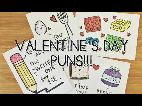 7 DIY Valentines PUNS! Cards | Doodle With Me   YouTube