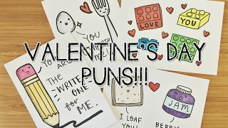 7 DIY Valentines PUNS! Cards | Doodle with Me
