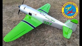 Flight of an Reno Yak-11 by Seagull with a 3-cylinder radial-engine...