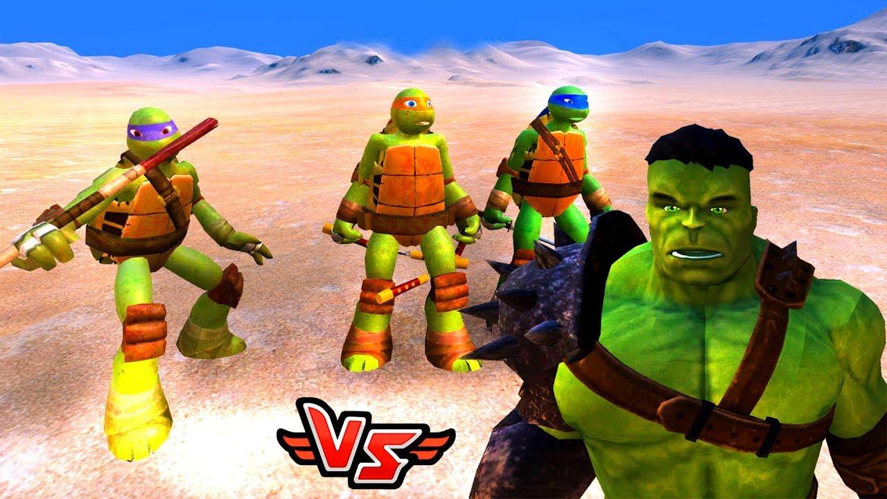 Hulk Vs Ninja Kaplumbağalar Süper Kahramanlar Youtube