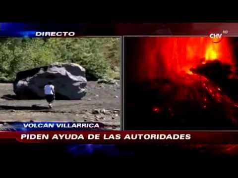 Entrevista a Habitantes sector aledaños a Volcan Villarrica. Nota Chilevision  03.03.2015