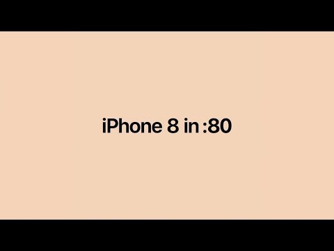 iPhone 8 in 8 seconds by Apple slowed down [60fps]