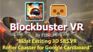 Blockbuster VR   Most Exciting 3D SBS VR Roller Coaster for Google Cardboard