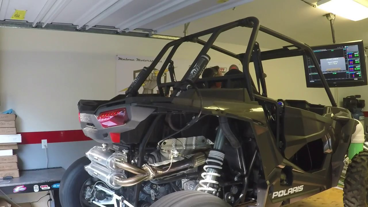 pwrTune Trinity Dual Slip on Exhaust Dyno Run on 2016 RZR XP Turbo